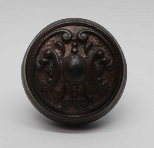 Door Knobs - Antique Cast Iron Reading 2 Fold Door Knob