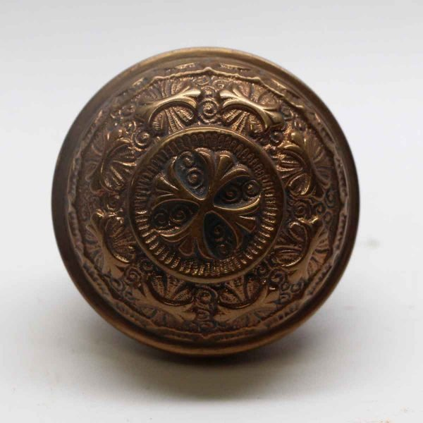 Door Knobs - Antique Nashua 8 Fold Brass Door Knob