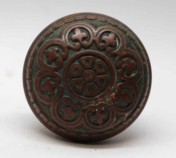 Door Knobs - Antique Niles Chicago Eight Fold Bronze Entry Door Knob