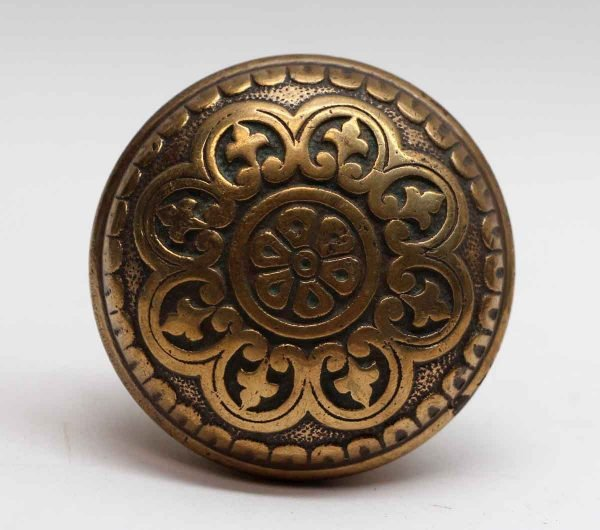 Door Knobs - Antique Niles Chicago Eight Fold Polished Bronze Door Knob