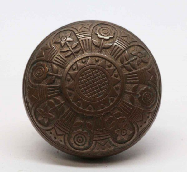 Door Knobs - Bronze Antique 8 Fold Vernacular Door Knob