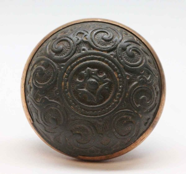 Door Knobs - Classic Cast Iron Corbin Door Knob with a Bronze Rim