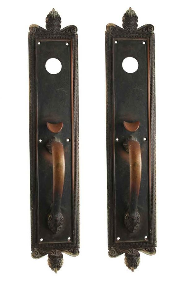 Door Pulls - Pair of Bronze Neoclassical Door Pulls