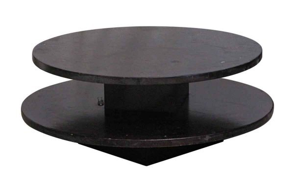 Living Room - Two-tier Round Wood Coffee Table