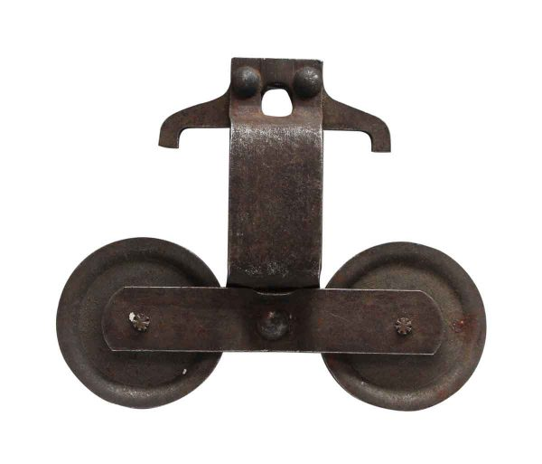 Pocket Door Hardware - Antique Cast Iron Two Wheeled Pocket Door Roller