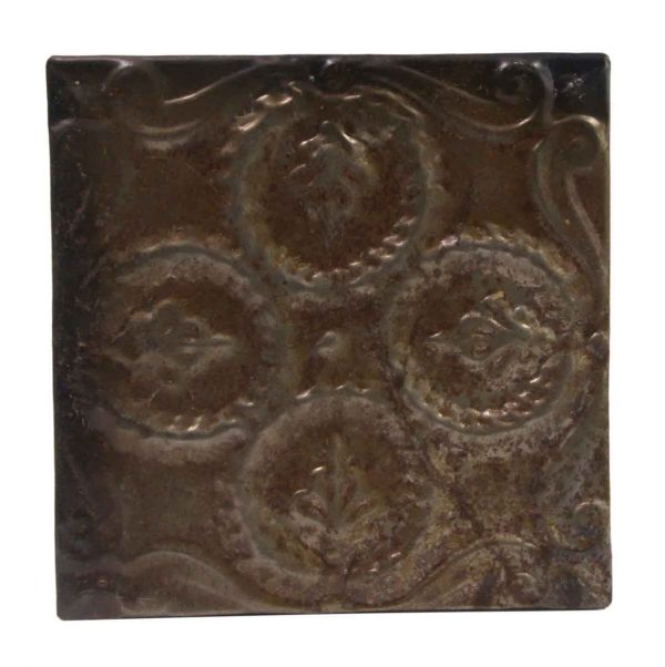 Tin Panels - Brown Wreath Quadrant Tin Panel