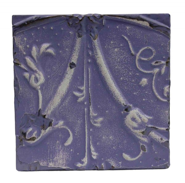 Tin Panels - Purple 2 Fold Floral Tin Panel