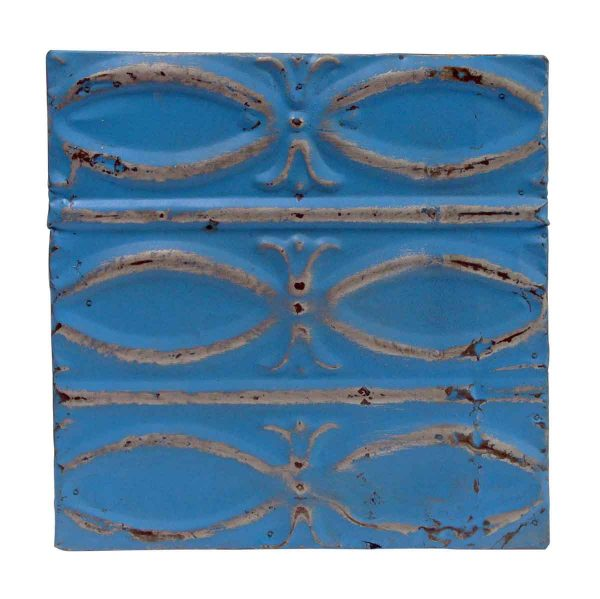 Tin Panels - Royal Blue Fish Pattern Tin Panel