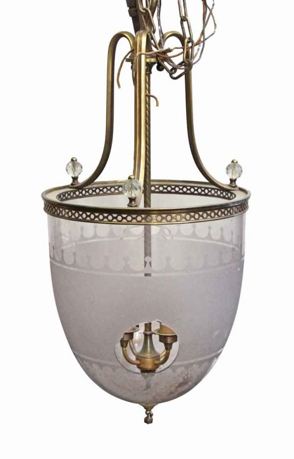 Wall & Ceiling Lanterns - Large Caldwell Bell Jar light from the Waldorf Astoria
