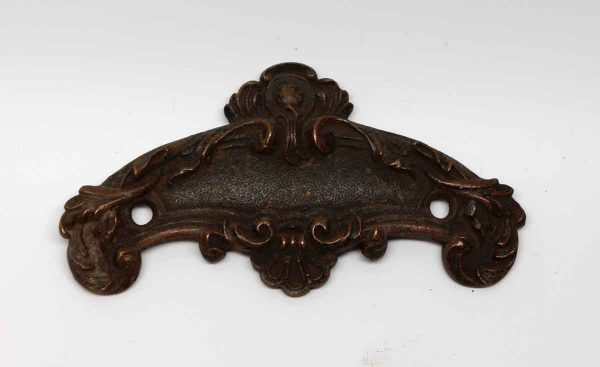 Applique - Ornate Bronze Door Emblem Plate from The Plaza Hotel
