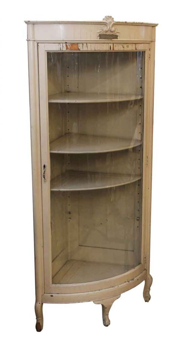 Cabinets - C. 1902 Glass Front Wooden Cabinet