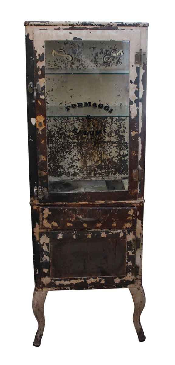 Cabinets - Distressed Metal Storage Cabinet
