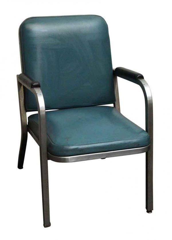 Commercial Furniture - Teal Chair with Aluminum Frame