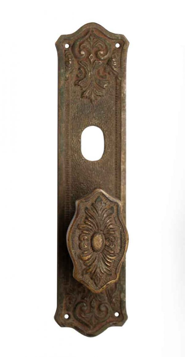 Door Knob Sets - Bronze Door Plate with Single Door Knob
