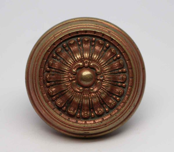 Door Knobs - Antique Bronze Radial Greek Entry Royan Door Knob