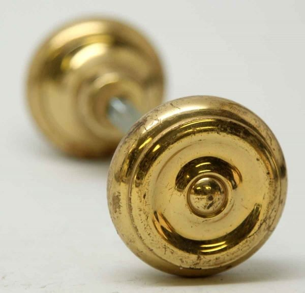 Door Knobs - Cast Brass Door Knobs with Concentric Circle with Raised Dot Motif