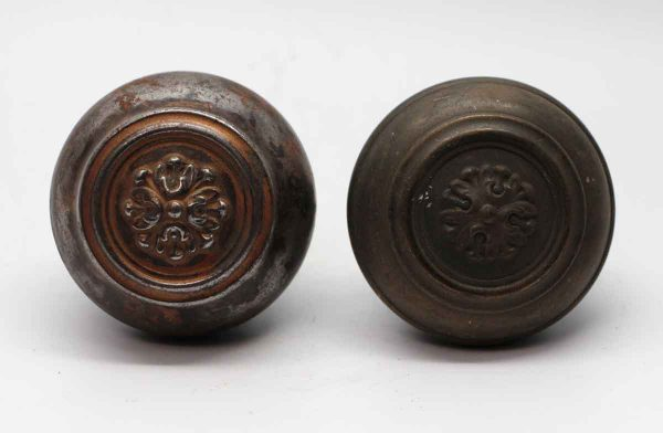 Door Knobs - Pair of Steel Concentric Roland Russell & Erwin Door Knobs