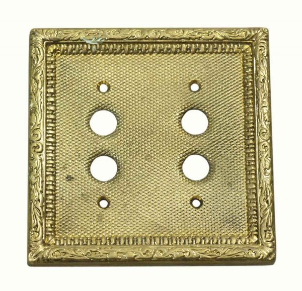 Lighting & Electrical Hardware - Victorian Ornate Brass Switch Cover