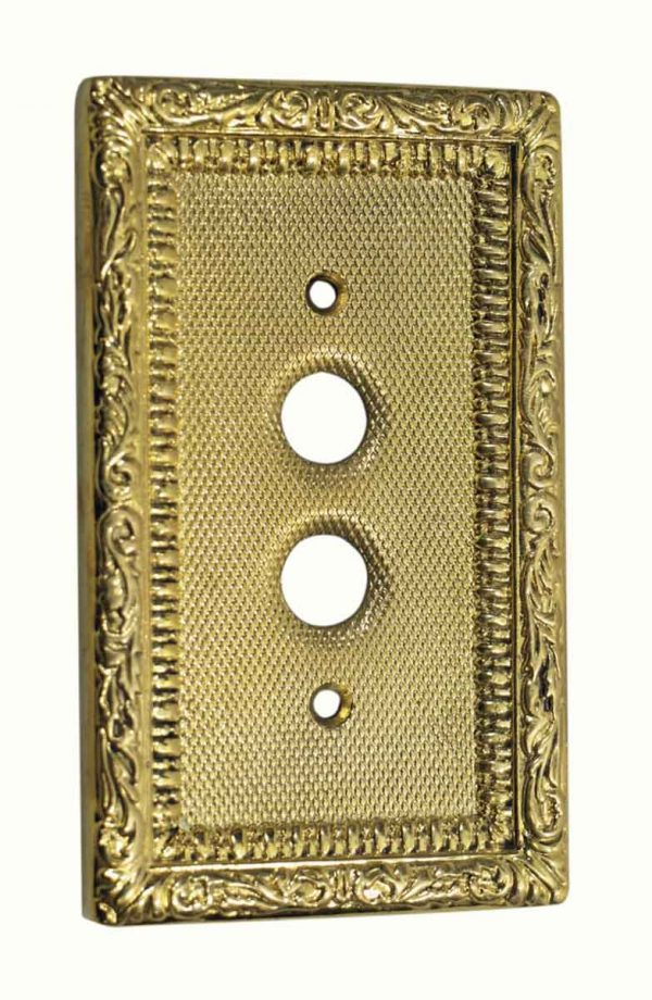 Lighting & Electrical Hardware - Victorian Two Button Light Switch Cover