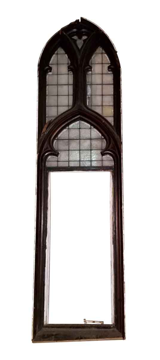 Religious Antiques - Gothic Church Window with Leaded Glass