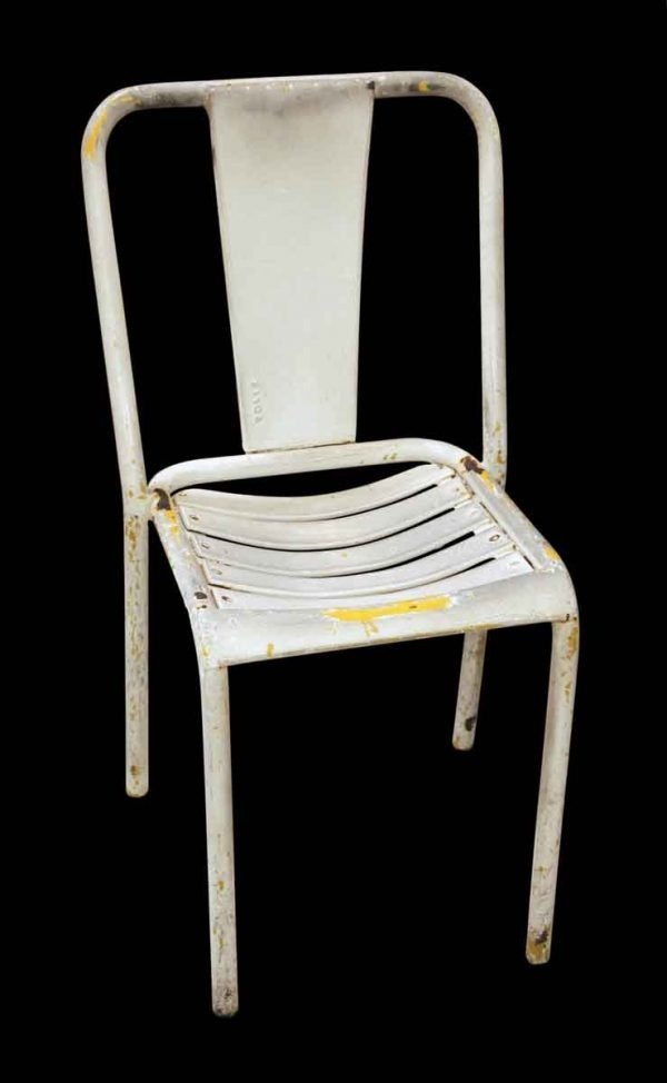 Seating - White Tolex Metal Chair