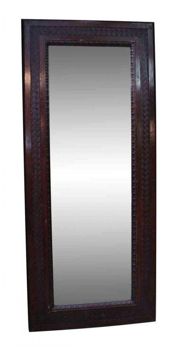 Wood Molding Mirrors - Brown Wooden Mirror with Egg & Dart Detail