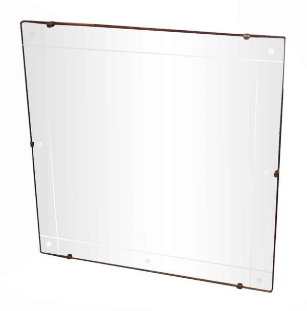 Antique Mirrors - Vintage Etched Square Wall Mirror