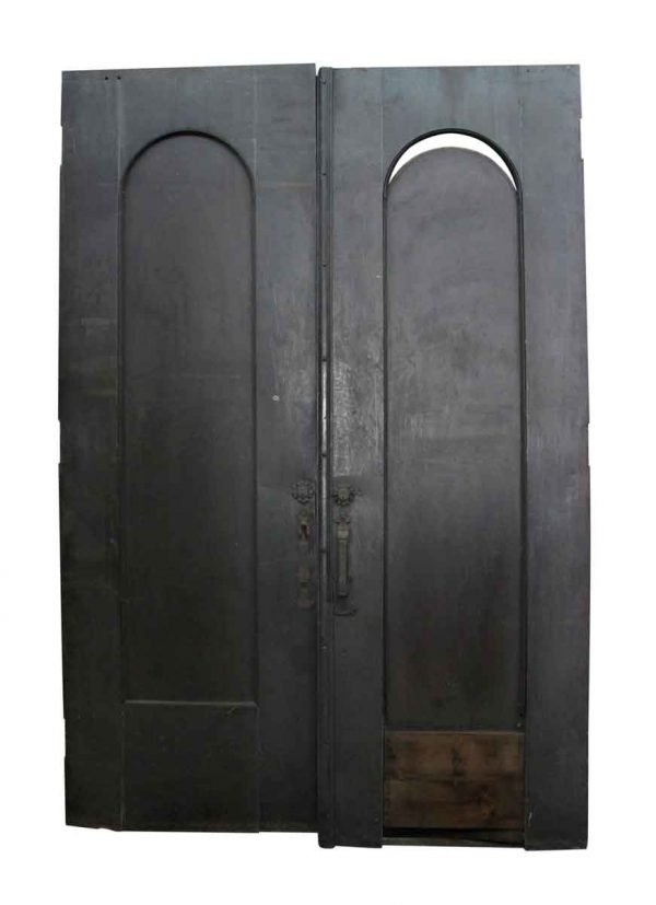 Arched Doors - Pair of Metal Doors with Arched Panels
