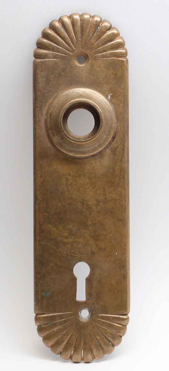 Back Plates - Bronze Fluted Back Plate with Keyhole