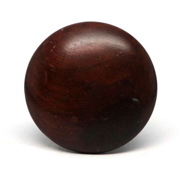 Cabinet & Furniture Knobs - Round Dark Wooden Drawer Knob