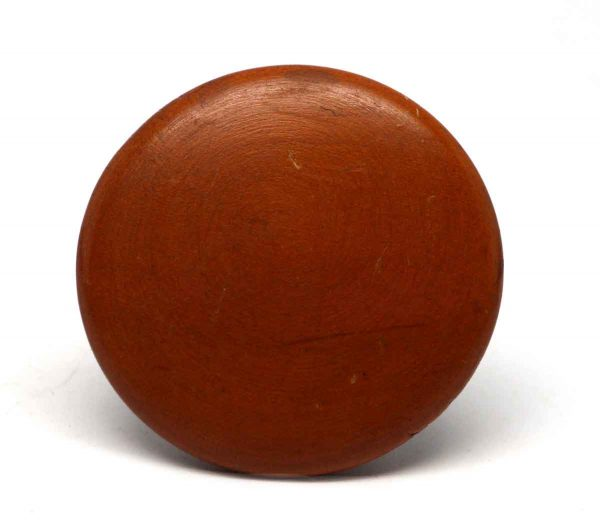 Cabinet & Furniture Knobs - Warm Red Tone Wooden Round Drawer Knob