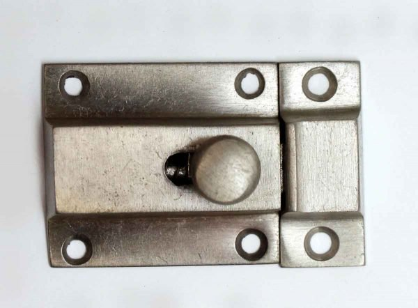 Cabinet & Furniture Latches - Vintage Brushed Steel Cabinet Latch