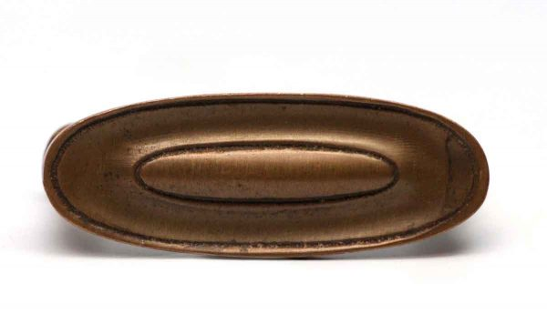 Cabinet & Furniture Pulls - Oval Solid Brass Drawer Pull