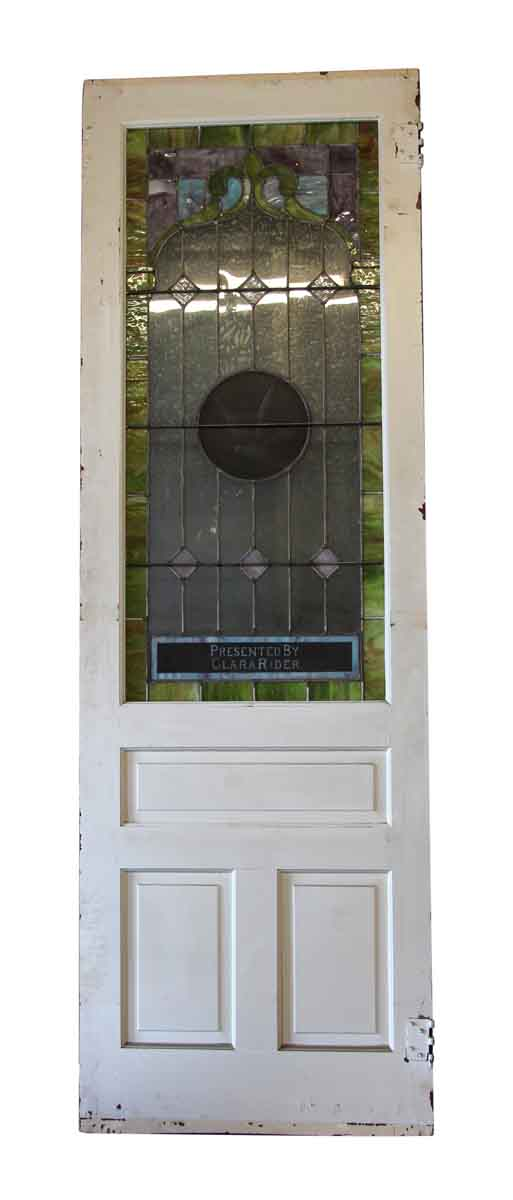 Commercial Doors - Salvaged Stained Glass Pine Doors