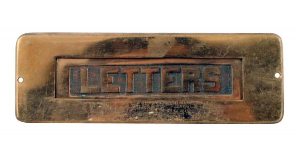 Mail Hardware - Antique Russell & Erwin Solid Brass Door Letter Slot