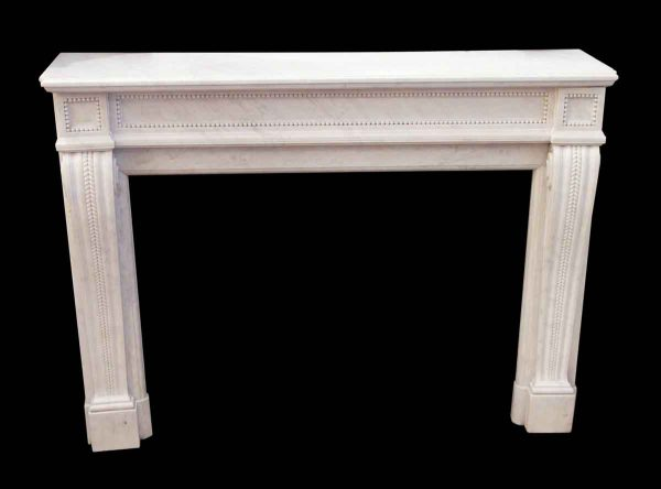 Marble Mantel - White Beaded Marble Mantel