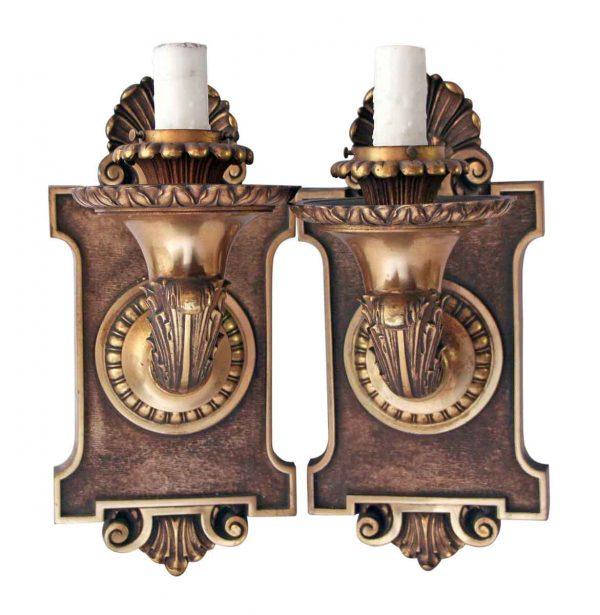 Sconces & Wall Lighting - Pair of American Made Bronze Caldwell Sconces