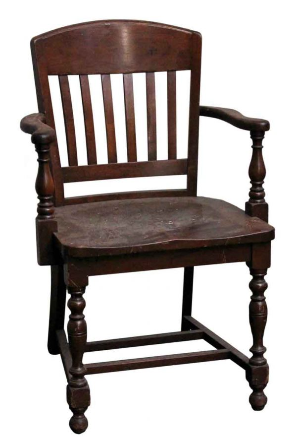 Seating - Slatted Back Solid Wood Arm Chair