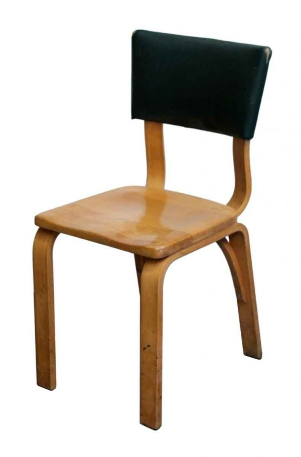 Seating - Thonet Bentwood Chair with Green Vinyl Back