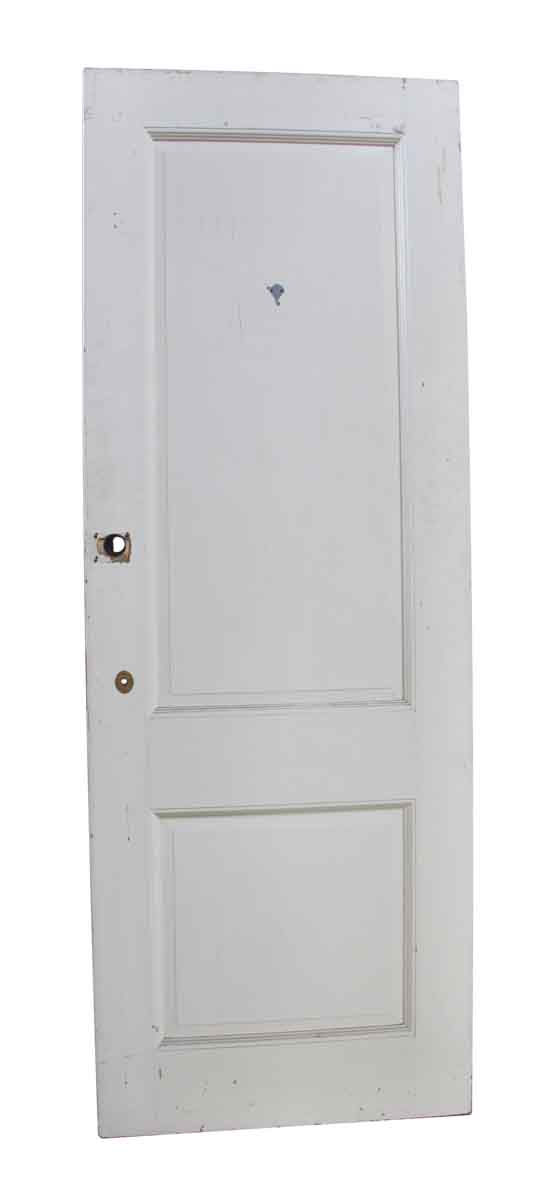 Standard Doors - Two Panel White Door with Raised Molding