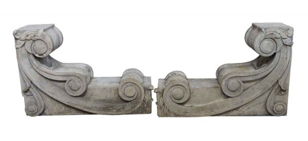 Stone & Terra Cotta - Carved Stone Corbels from a New York City Building