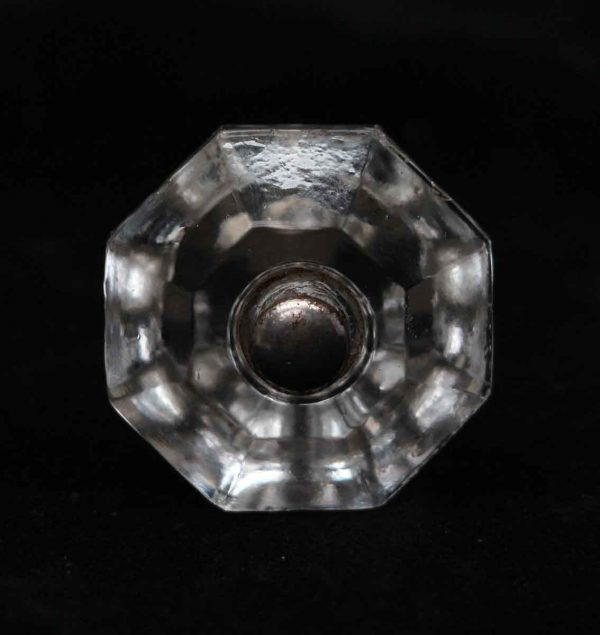 Cabinet & Furniture Knobs - Vintage Clear Glass 1.25 in. Cabinet Drawer Hexagon Knob