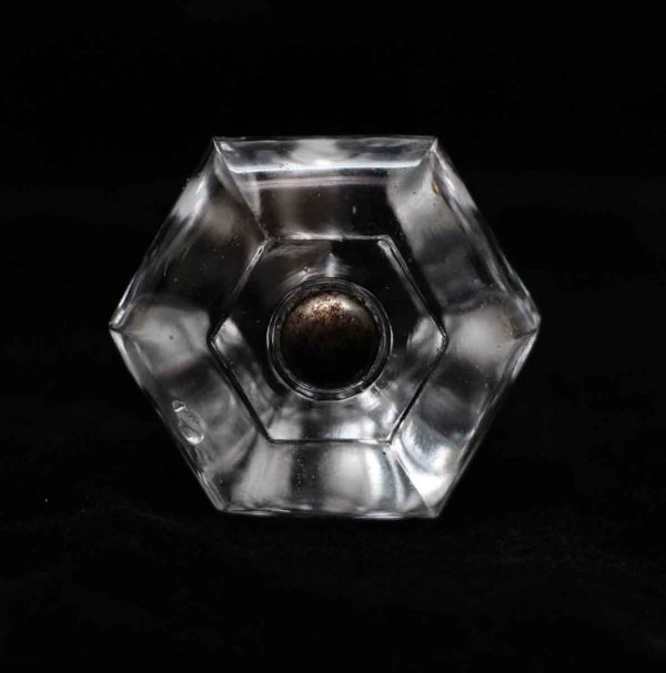 Cabinet & Furniture Knobs - Vintage Clear Glass 1.25 in. Cabinet Drawer Knob