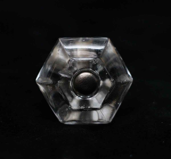 Cabinet & Furniture Knobs - Vintage Clear Glass 1.25 in. Drawer Cabinet Knob