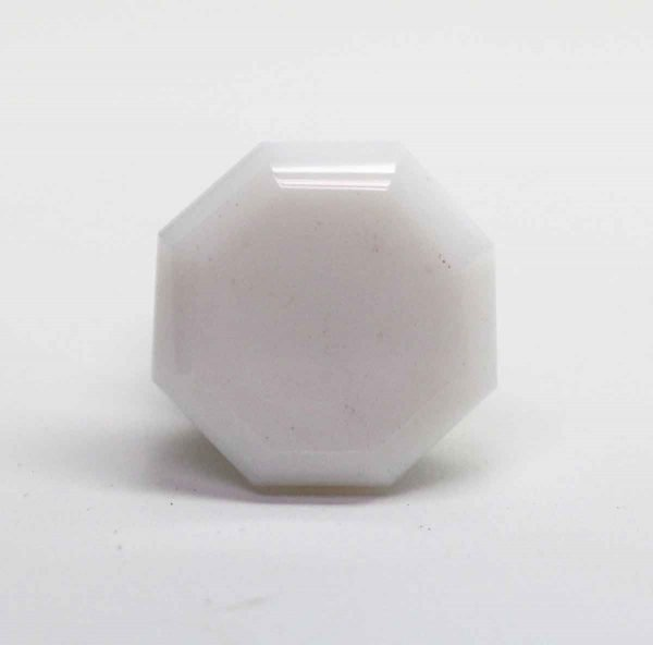 Cabinet & Furniture Pulls - Small White Milk Glass Drawer Knob