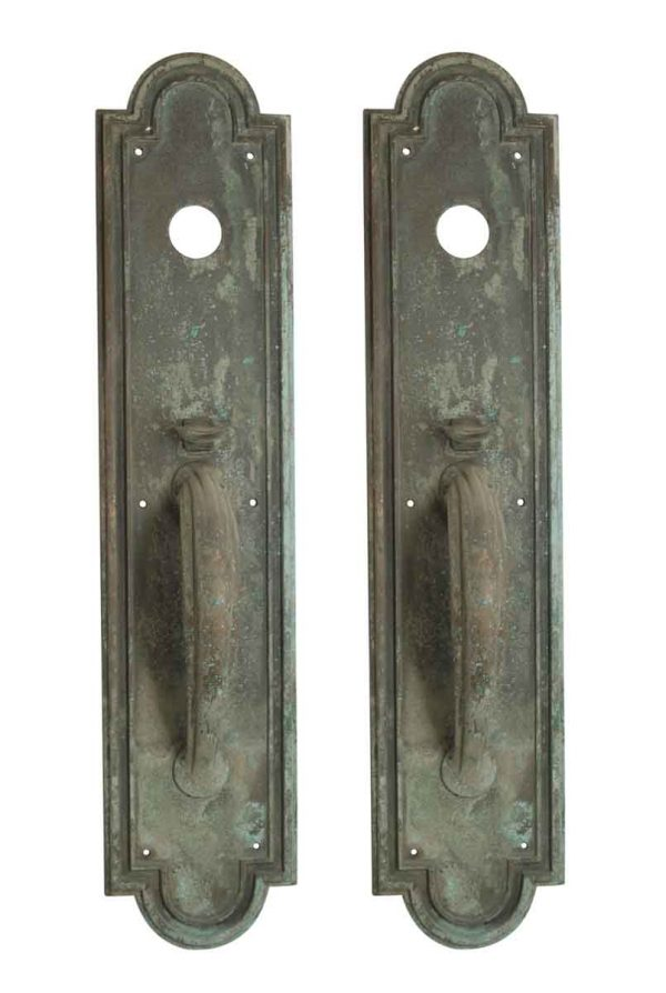 Door Pulls - Pair of Large Deco Yale & Towne Bronze Door Pulls