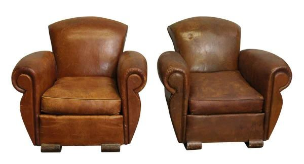 Living Room - Leather Club Vintage Chairs