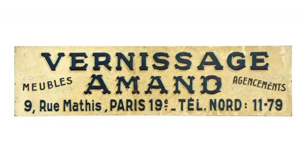 Vintage Signs - French Vernissage Imported Sign