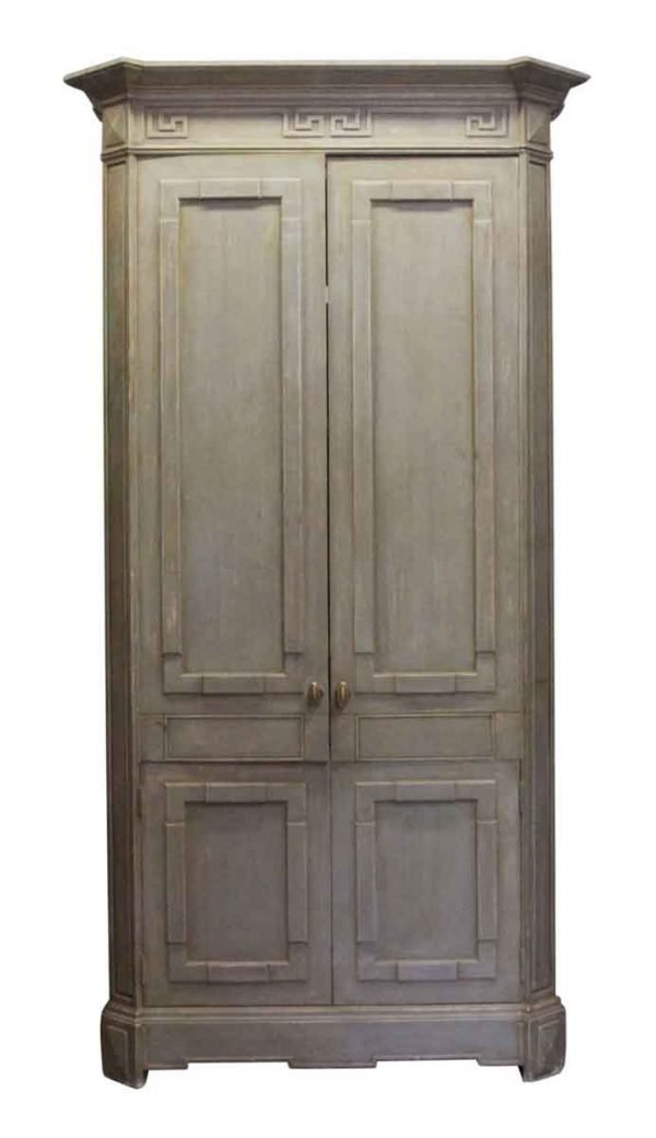 Armoires & Vitrines - Tall Painted Light Green Entertainment Cabinet