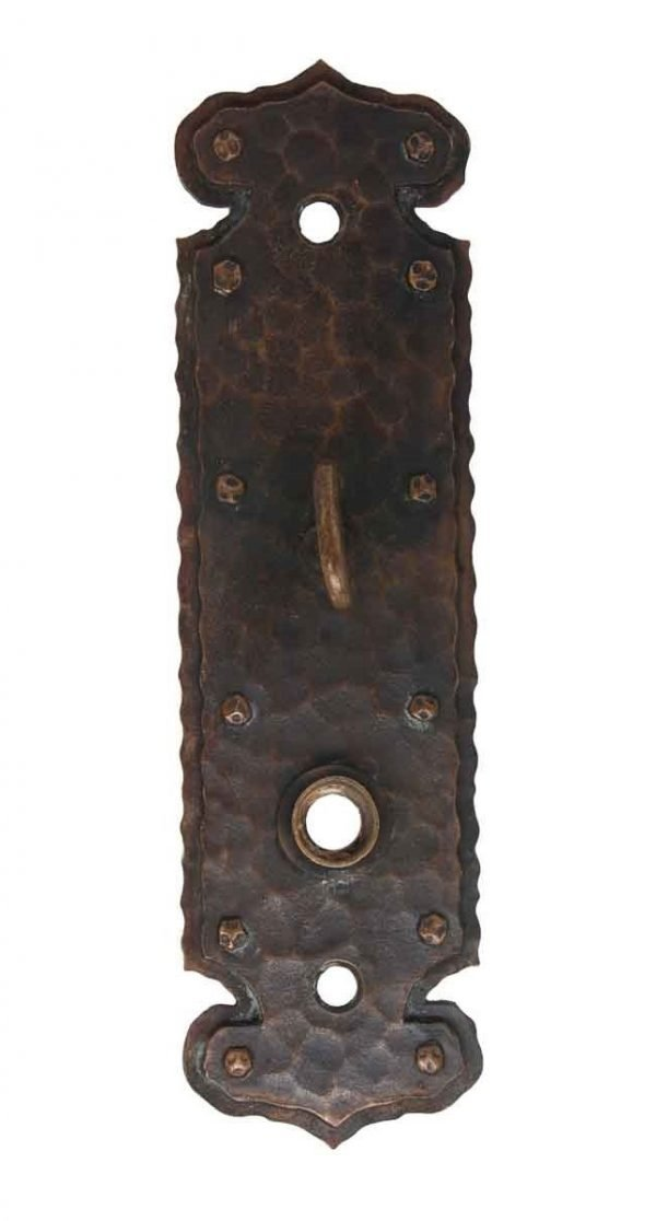 Back Plates - Bronze Arts & Crafts Back Plate with Latch